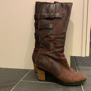 Clark's knee high suede boots